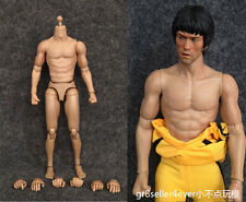 1/6 Scale Asian Male Muscular Figure Body fit Bruce Lee head sculpt hot toys