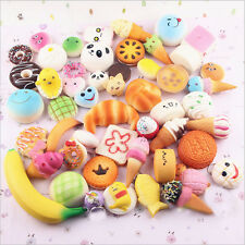 20Pcs set jumbo medium mini aléatoire squishy soft panda/pain/cake phone straps