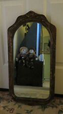 Vintage antique wall mirror ornate arc frame