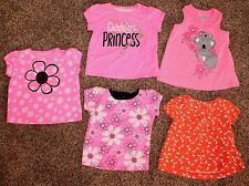 Jumping Beans Girl's Lot of 5 Short Sleeve Tops New & Gently Used Size 3 Months