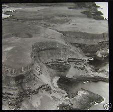 Glass Magic Lantern Slide GIANTS CAUSEWAY ARIEL PHOTO C1930 ANTRIM IRELAND