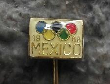 1968 Olympic Summer Games Jeux olympiques Mexico Rings Logo Pin Badge