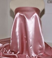 "BRIDAL SATIN FABRIC DAPHNE ROSE PINK  45""   WEDDING COSTUME FORMAL (close out)"