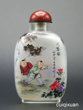 Chinese Hand Inside-painted Snuff Bottle--The Ancient Chinese Children