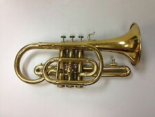Rare Antique Jacques Couturier Military Style Brass Cornet c. 1875