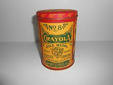 Vintage No 8 Gold Medal Crayola Crayons 1982 Collector's Tin Binney & Smith