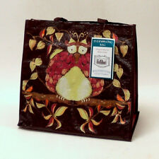 Tina Givens FPRB03 Opal Owl Reusable Recyclable Everything Bag Brown