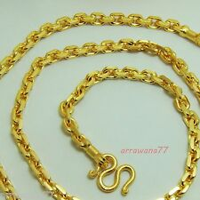"""Chain 22K 23K 24K THAI BAHT GOLD Filled YELLOW GP NECKLACE 24""""  Jewelry"""