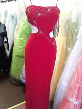 Red ballroom dance dress. # 3169   S 12.