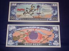 BEAUTIFUL UNC. ROAD RUNER NOVELTY NOTE ONLY .25 SHIPPING FREE SHIP + FREE NOTES!