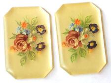 #1332 Vintage Cabochons floral Bouquet Flowers Limoges Style 35mm Rose Flowers