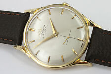 Movado Automatic bumper reloj/watch 18k Solid Gold caballeros/Gents ultra rare cal.115