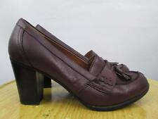 G.H BASS Lacey Tassel Heels Pumps Burgundy Leather Size 7 M