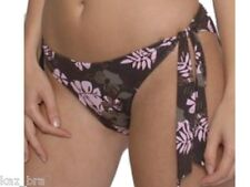Pour Moi? Bikini Bottoms UK 14 Brown & Pink Floral New Tie Side Briefs Sexy