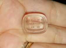 ANTIQUE OBLONG INTAGLIO SEAL - YET WHO CAN TELL IF THOU WILT EVER THINK OF ME