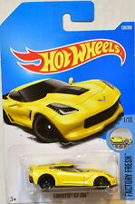 HOT WHEELS 2017 FACTORY FRESH CORVETTE C7 Z06 #1/10 YELLOW