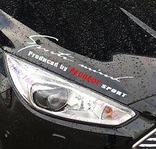 ☆ nuevo ☆ Faros De Cejas Automóvil Pegatinas Calcomanías de Vinilo de gráficos para Peugeot (Blanco)