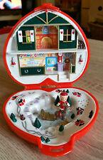 Polly Pocket Mini Dose Herz Weihnahcten Christmas mit 2 Figuren