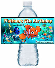 20 FINDING NEMO DORY BIRTHDAY ~ WATER BOTTLE LABELS ~ sea design
