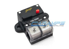 STINGER 0 OR 4 GAUGE 150 AMP CAR STEREO 12V INLINE POWER CIRCUIT BREAKER 150A