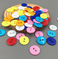 100X FREE Mixing colors Resin Button Fit Sewing Scrapbook Decorative craft 13mm