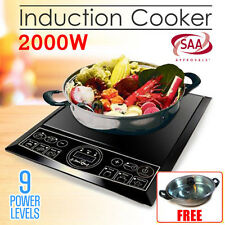 2000W Electric Induction Cooktop Portable Cooker Kitchen Hotplate Burner w/ POT