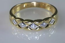 Men's 14K Gold 5 Diamonds Wedding Anniversary Ring Band Sz.11.75