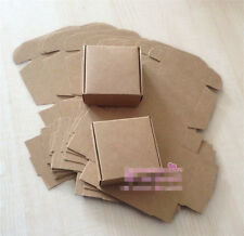 5x Brown Kraft Packaging Gift  Box Wedding Party Handmade Soap Box Gift Cookies
