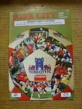11/04/1992 York City v Hereford United  (No Apparent Faults)
