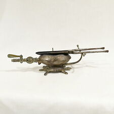 Antique Victorian Turtle Shaped Figural Gas Heater & Curling Iron Pelleray Franc