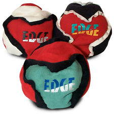 Edge footbag hacky sack sand filled dirtbag - Pack of THREE