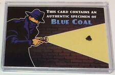 Shadow Knows OTR Old Time Radio Sponsor Authentic Blue Coal Specimen Prop Card
