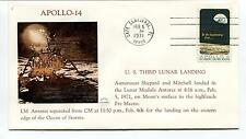 1971 Apollo 14 US Third Lunar Landing Shepard and Mitchell landed Space Cover