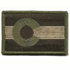 Colorado CO STATE FLAG US USA ARMY MORALE TACTICAL MILITARY BADGE VELCRO PATCH