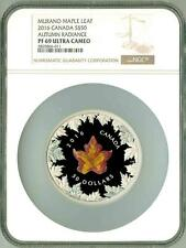 2016 S$50 Canada Maple Leaf 5 Oz Silver Murano Glass Autumn Radiance NGC PF69 UC