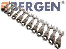 BERGEN 12pc Flexible Stubby Ratchet Combination Spanners Set 8-19mm Short A1903