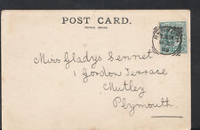 Family History Genealogy Postcard- Sennet - Gordon Terrace,Mutley,Plymouth RF128