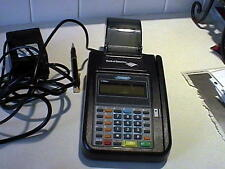Used Hypercom T7P Plus credit card terminal, complete w/power cords, w/warranty