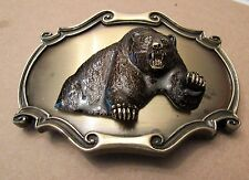 RAINTREE 1980 Men's Belt Buckle with 3-D Bear-Gold Color-Very Cool