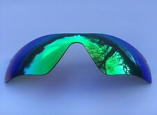 NEW GREEN REVO MIRRORED REPLACEMENT OAKLEY RADAR PATH LENS & POUCH