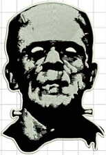 "Frankenstein monster LARGE 7""x10"" - sew on biker embroidered vest patch,"