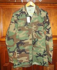 COAT, TEMPERATE, WOODLAND CAMOUFLAGE PATTERN, COMBAT - Medium Long - NEW w/Tags