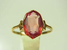 Schöner antiker Turmalin Ring 585 Gelbgold feine Fassung dunkelrosa Turmalin ?