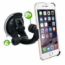 iPhone 6 Plus Black plastic Windscreen Suction Car Holder Mount Cradle Dash