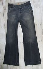 7 For All Mankind Womens Jeans Flare Mid Rise W25 L31.5 No Back Pockets