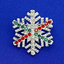 Christmas Snowflake W Swarovski Crystal Multi Color New Brooch Pin Jewelry Gift