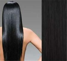 """18""""#1B(Off Black) Remy Human Hair Clip-In Extensions  Full Set- 8 pcs /120 grams"""