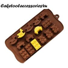 15 Holes Silicone Chocolate Dice Teddy Car Horse Shape Mould Chocolate Cake