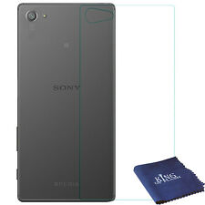 """Sony Xperia Z5 5.2"""" Back Tempered Glass Screen Protector + Blue Microfiber Cloth"""