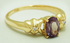 1.24 Carats Changing Color ALEXANDRITE & DIAMONDS 14k Gold Ring *FREE SHIPPING*